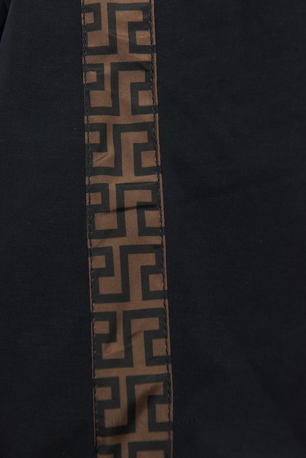 Tmavomodrá prešívaná obojstranná bunda