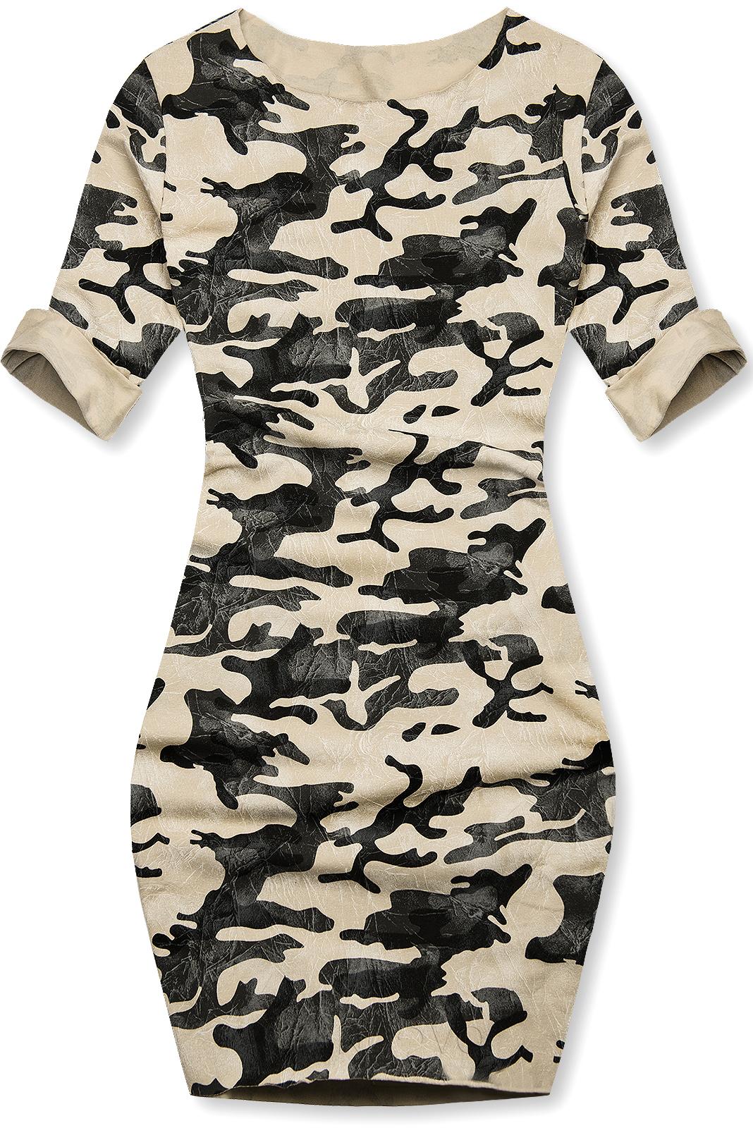 Vanilkové ležérne army šaty
