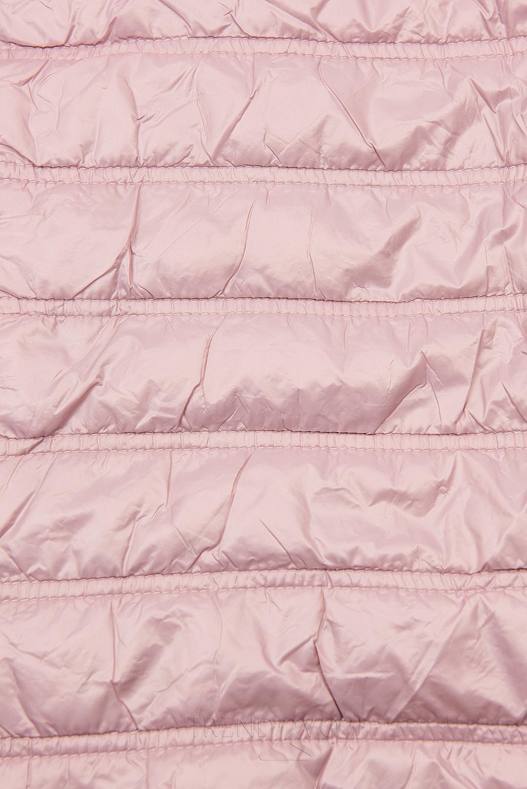 Svetloružová ľahká prechodná bunda