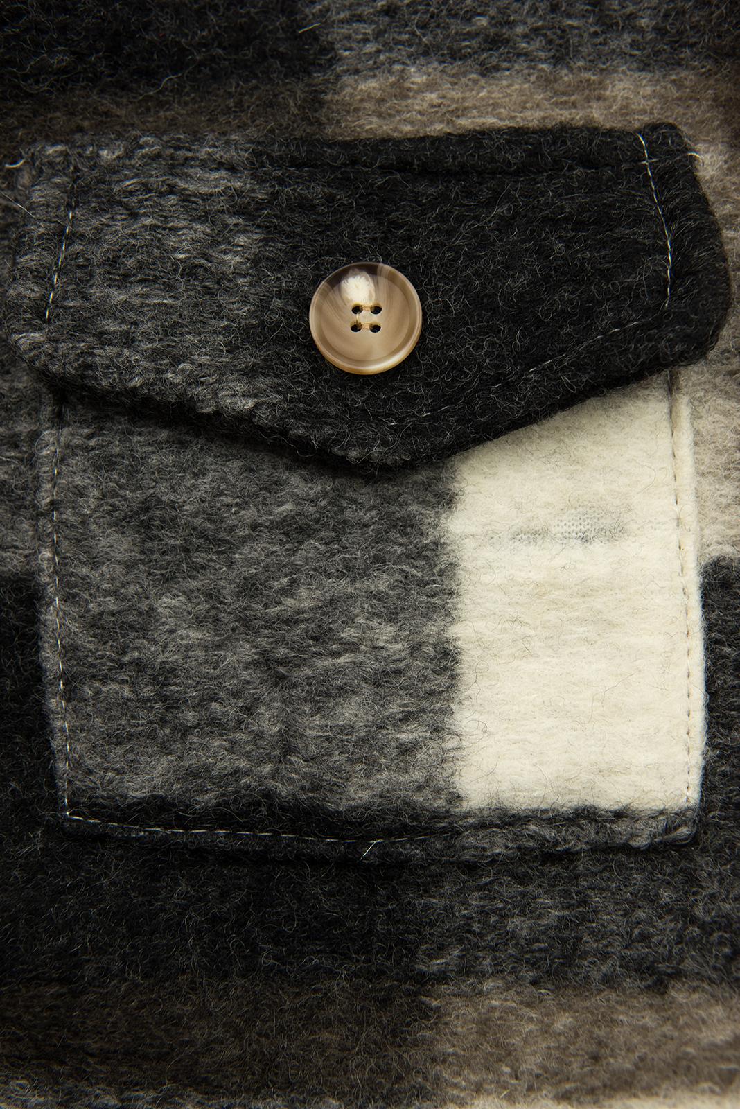 Hnedo-biela košeľová bunda