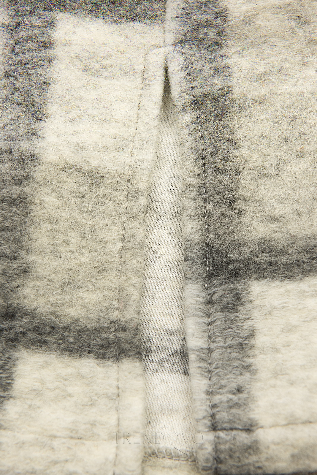 Sivo-biela košeľová bunda