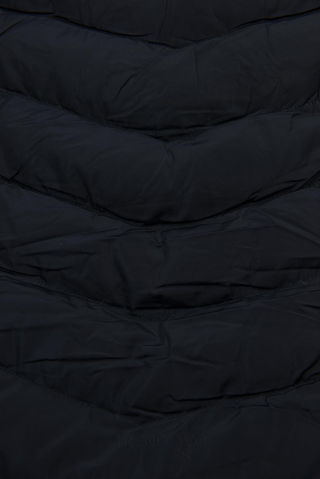 Tmavomodrá bunda na obdobie jeseň/zima