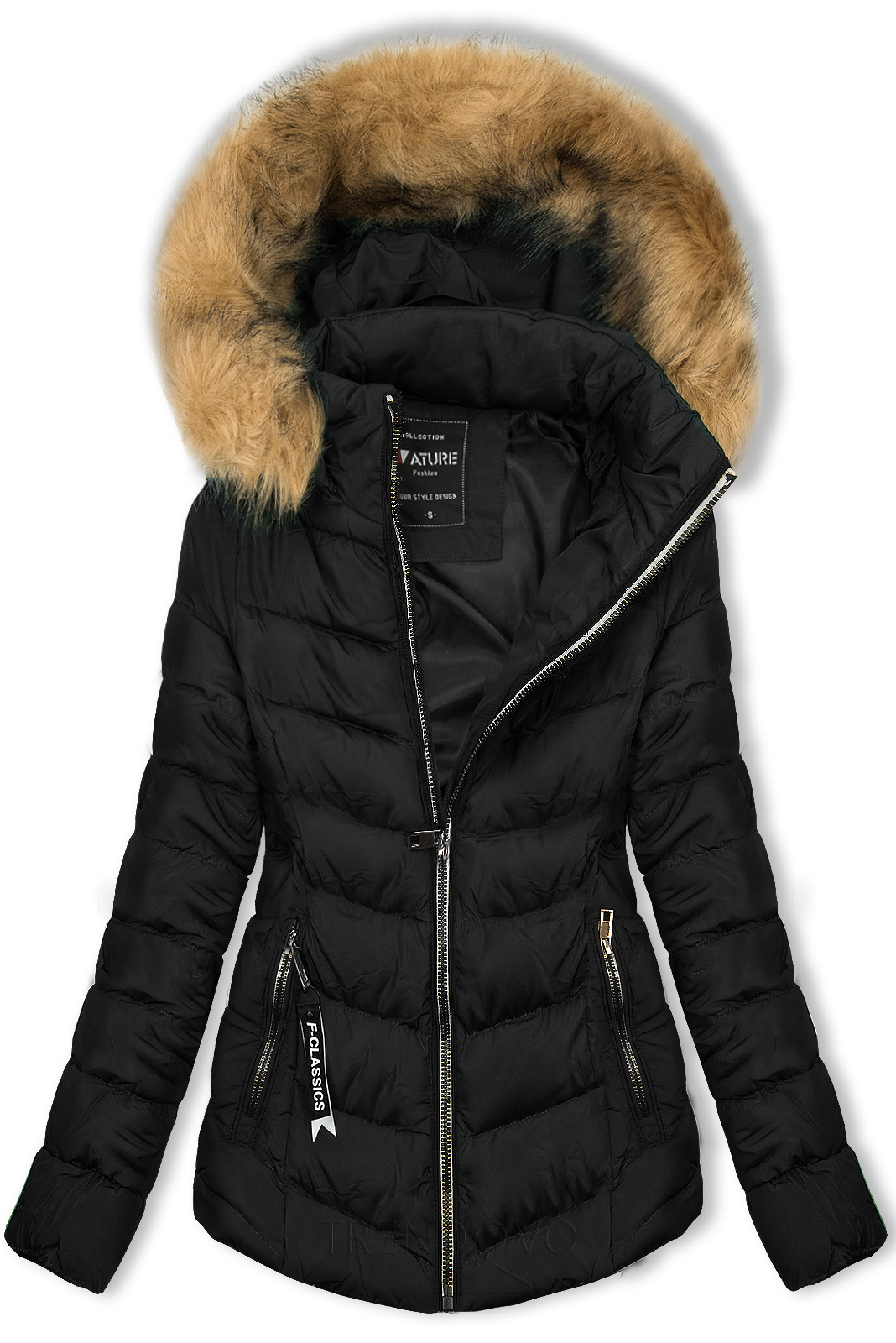 Čierna bunda na obdobie jeseň/zima