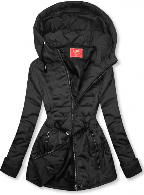 Čierna prešívaná ľahká bunda