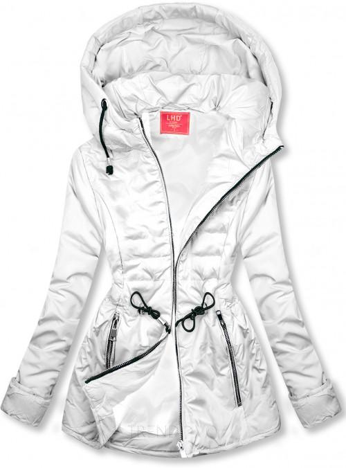 Biela prešívaná ľahká bunda