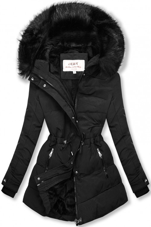 Čierna zimná bunda