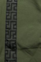 Khaki prešívaná obojstranná bunda