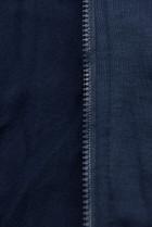 Tmavomodrá predĺžená mikina s farebnou podšívkou