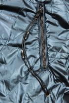 Modrá/biela lesklá obojstranná bunda