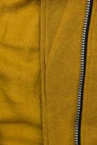 Mustard mikina na zips