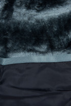 Tmavomodrá zimná bunda v predĺženom strihu