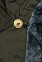 Khaki zimná bunda s vysokým golierom