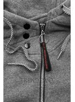 Grafitová mikina na zips