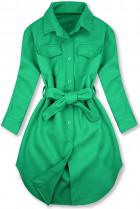 Zelený ľahký plášť