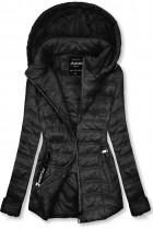 Čierna ľahká prechodná bunda